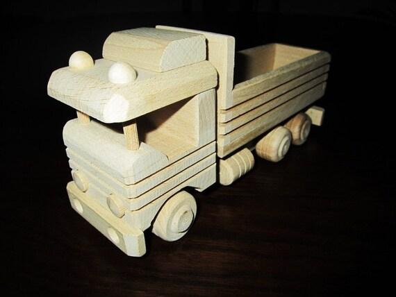 Kipper LKW Truck Laster TIR Lastwagen Auto Automodell Holzmodell Holz NEU