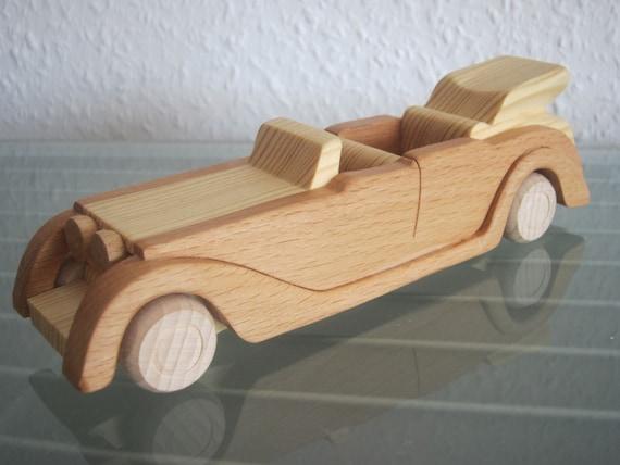 Oldtimer T UNIKAT Holzauto  Modellauto Auto Holz HANDARBEIT NEU