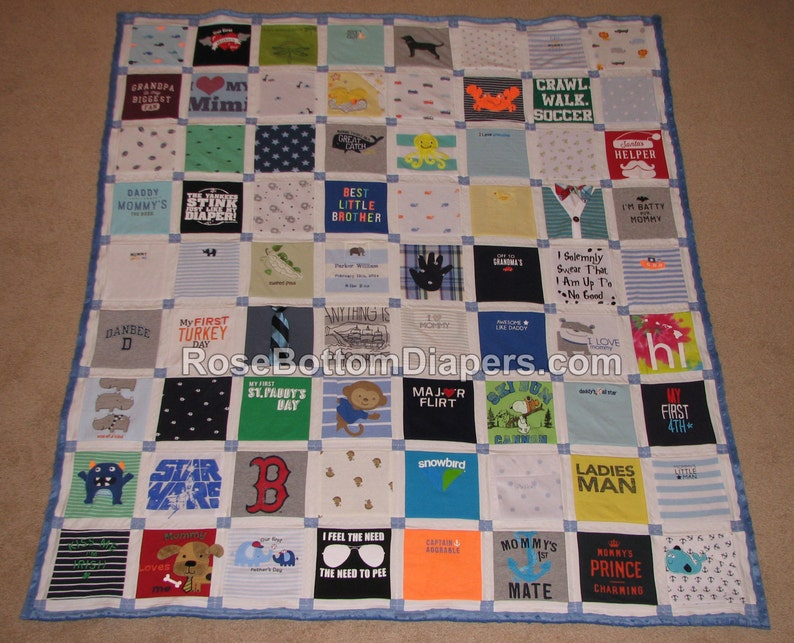 Baby memory quilt baby clothes personalize with name etsy