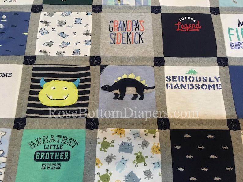 Clothes quilt made from t shirts or baby clothes medium lap etsy