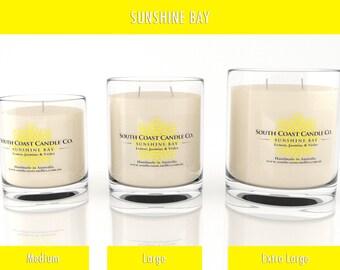 Lemon Jasmine Violet Scented Soy Wax Candle Jar 3 Sizes