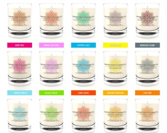 Scented Soy Wax Candles Choose Your Scent 15 Fragrances