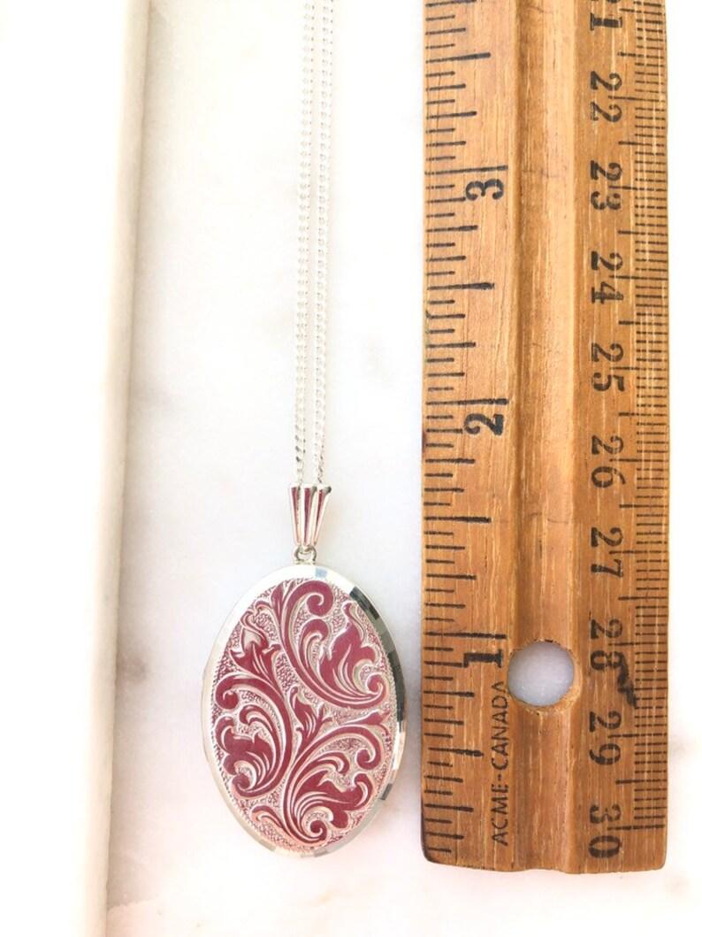 Vintage Sterling Silver Georg Jensen Locket Pendant Necklace