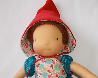 "waldorf doll 13"" * Little Red Riding Hood * OOAK *"