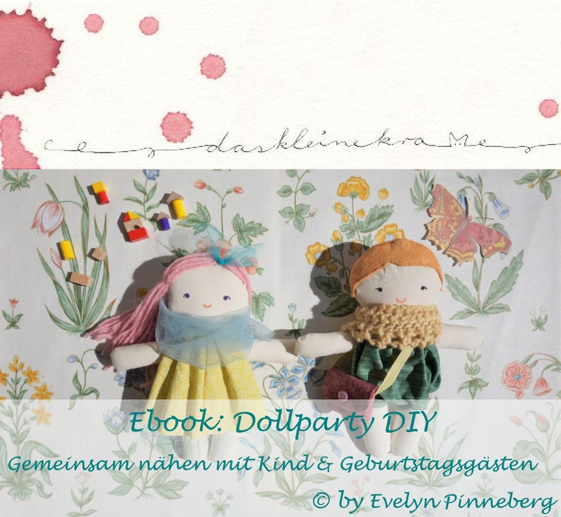 Dollparty DIY  sewing with children  german Ebook image 0