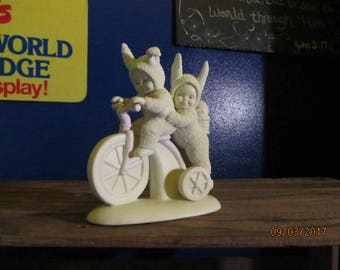 fb0bee2f12d Vintage Department 56 Dept 56 Limited Edition 1997 Snowbunnies Snow Bunnies Bicycle  Built for Two Figurine
