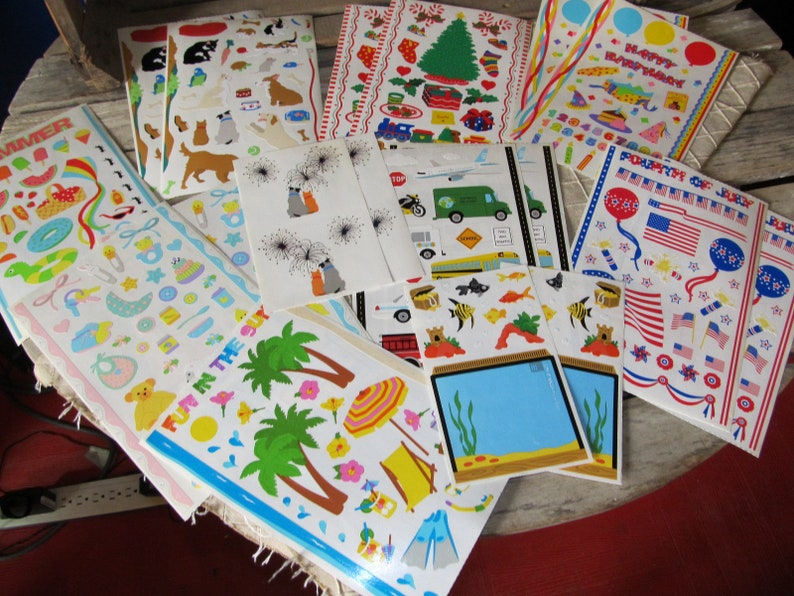 Vintage Mrs Grossman's Stickers Christmas Dated