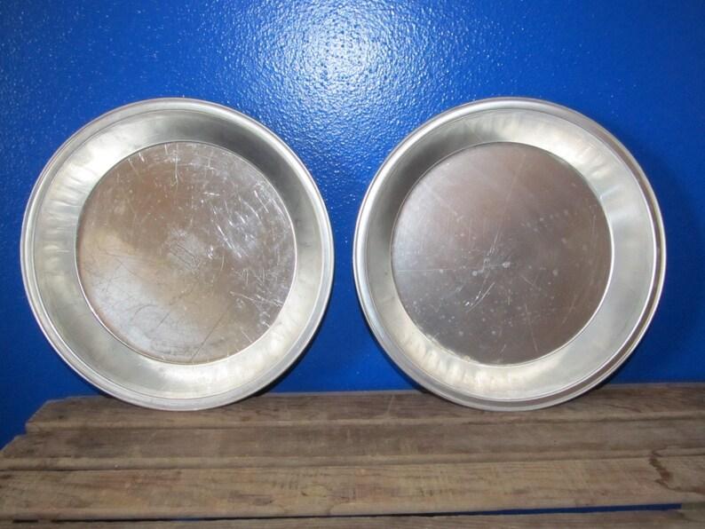 Set of 2 Farmhouse Vintage Wear-Ever WearEver Super Chef Aluminum Pie Plate Pan 9 x 1 14