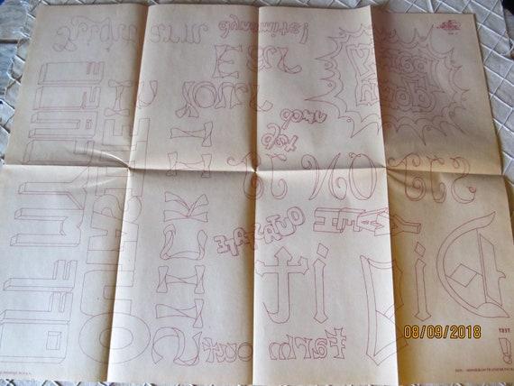 Vintage 4 nouveau feuilles Artex transferts nouveau 4 paquet complet sans monogrammes 0298 transferts Artex Hobby Lima Ohio fb5a82