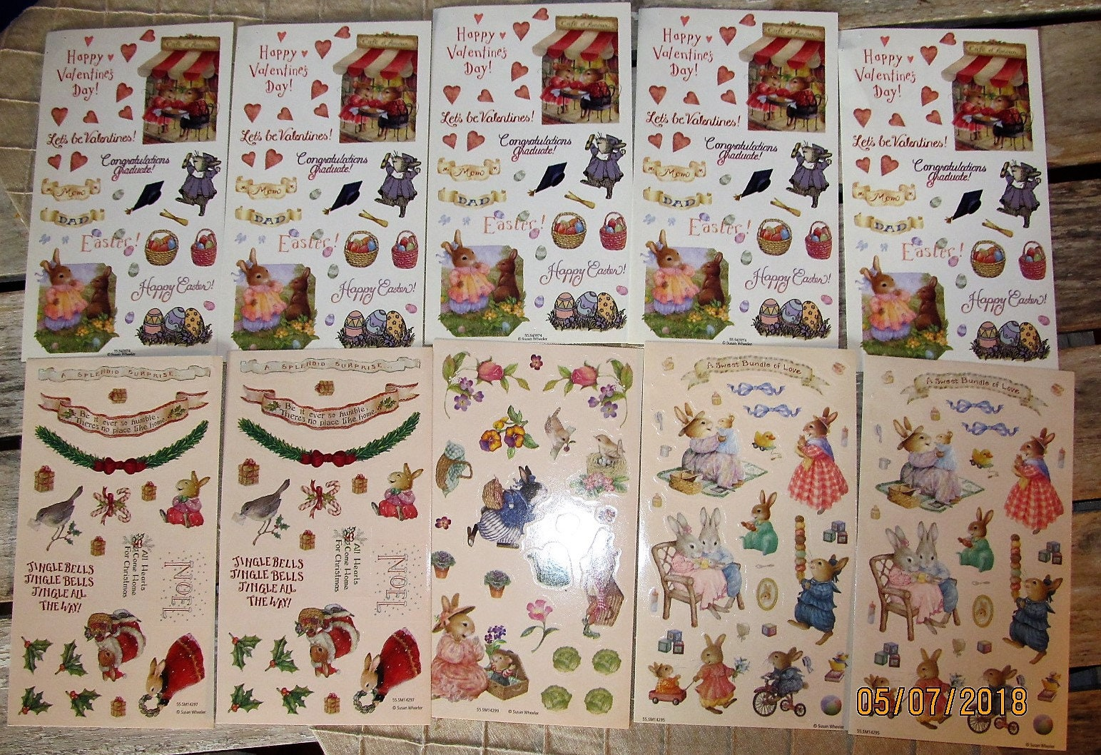 10 Sheets Vintage Holly Pond Hill Susan Wheeler Stickers Etsy