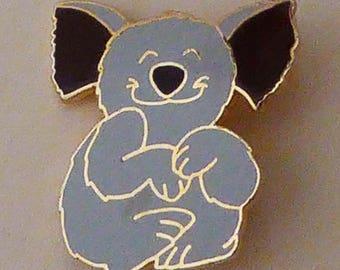 Vintage 1979 Ooh La La Happy Koala Bear Jewelry Lapel Brooch Pin