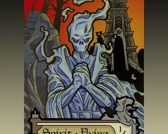Spirit Token - Custom MTG Magic the Gathering Innistrad Fantasy Board Game Card Gaming Collectible DnD Commander Horror Gothic Shadows Dark