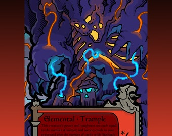 Elemental Token - Custom MTG Magic the Gathering Innistrad Fantasy Board Game Card Gaming Collectible DnD Commander Horror Gothic Midnight