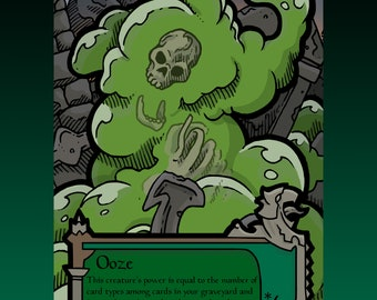 Ooze Token - Custom MTG Magic the Gathering Innistrad Fantasy Board Game Card Gaming Collectible DnD Commander Horror Gothic Midnight Dark