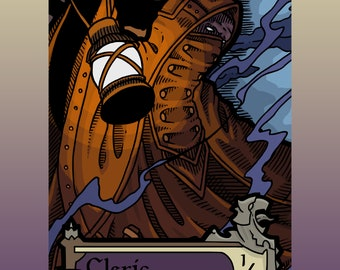 Cleric Token - Custom MTG Magic the Gathering Innistrad Fantasy Board Game Card Gaming Collectible DnD Commander Horror Gothic Shadows Dark
