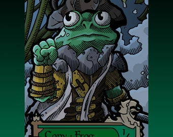 Copy Frog Token - Custom MTG Magic the Gathering Innistrad Fantasy Board Game Card Gaming Collectible DnD Commander Horror Gothic Midnight