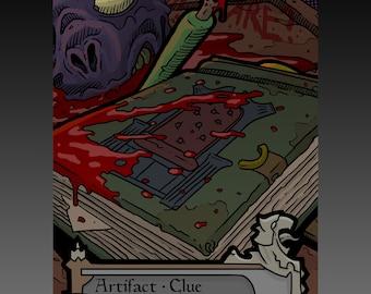 Clue Token - Custom MTG Magic the Gathering Innistrad Fantasy Board Game Card Gaming Collectible DnD Commander Horror Gothic Shadows Dark