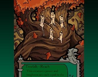 Treefolk Token - Custom MTG Magic the Gathering Innistrad Fantasy Board Game Card Gaming Collectible DnD Commander Horror Gothic Midnight
