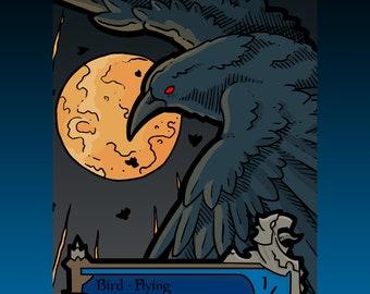 Bird Token - Custom MTG Magic the Gathering Innistrad Fantasy Board Game Card Gaming Collectible DnD Commander Horror Gothic Midnight Dark