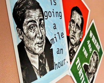Michael Moods ! Art Prints - Set of 3 Michael Scott The Office (US) - Where Are The Turtles - Anger - wall decor A6 portrait