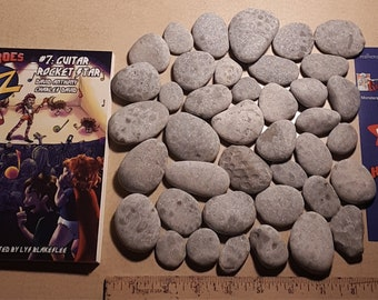 Over 3 dozen unpolished Petoskey stones and a new kids book. Wave smoothed fossils. Free priority shipping.
