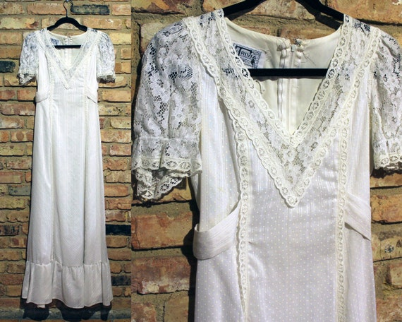 1970s Wedding Dress - 70s Wedding Dress - Vintage
