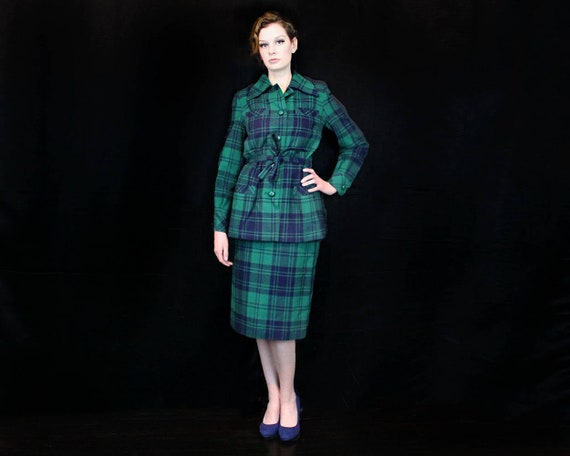 1960s Vintage Valentino Wool Suit Size M - 1960s V