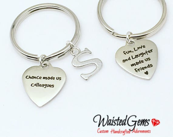 Colleagues Custom Charm Keychain, Birthday Gifts, Co-Workers Gifts, Employee Gifts, Co-Workers, grab bag gifts  zmw9.12