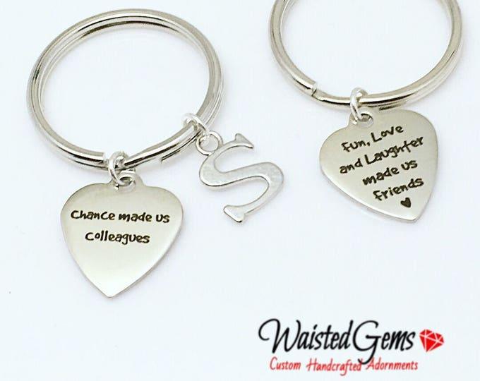 Colleagues Custom Charm Keychain, Birthday Gifts, Co-Workers Gifts, Employee Gifts, Co-Workers, grab bag gifts  zmw9.12