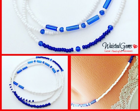 Blue Waters Waist Beads, Belly Chain, Body Beads, Summer Party, Summer, beach wear, Boho Jewelry, waist beads zmw4434