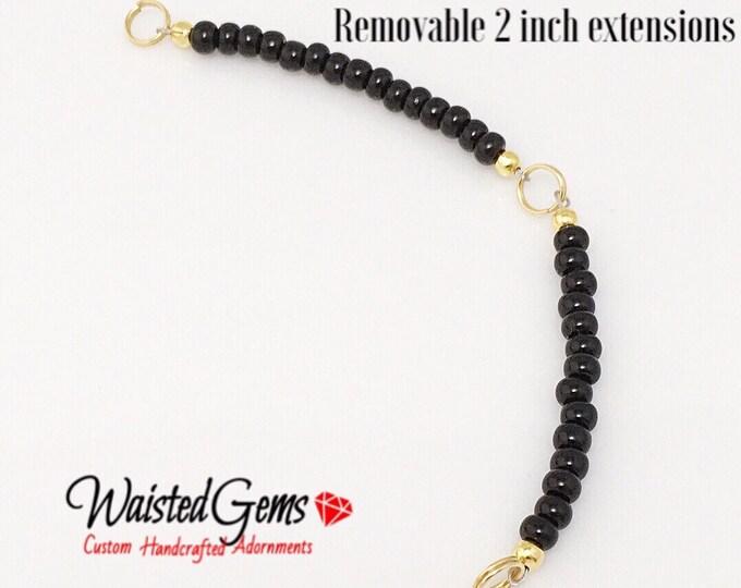 Custom Adjustable Waist Bead Extension 1 inch or 2 inches.for glass beads, Adjustable Waist beads, belly chain, Waist bead extension