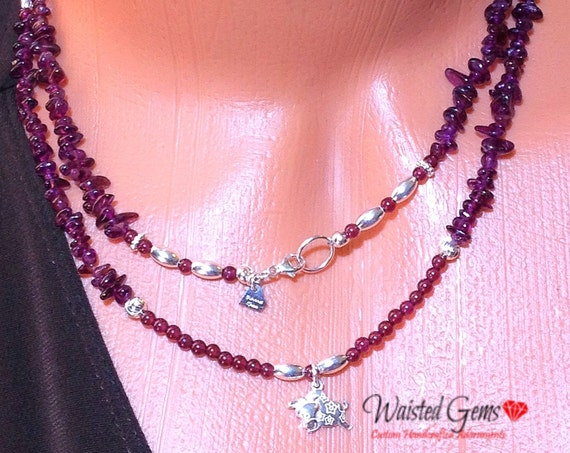 Natural Garnet and Sterling Silver Waist Beads, Waistbeads , January birthday, belly chain, Boho Jewelry, Body chains, Body Jewelry zmw2425