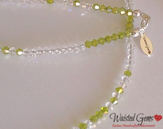 Swarovski Crystal Waistbeads,waist beads, anklet, body chain, belly chain, summer party, beaded jewelry zmw42