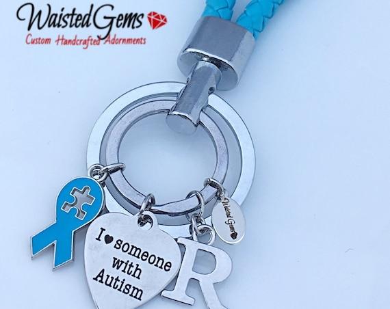 Autism Love Key Chain, Awareness Key Chain, Warrior Key Chain, I love someone with Autism Keychain zmw9348
