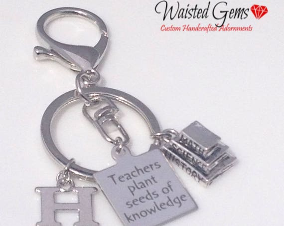 Teachers Plant Seeds Custom Key Chain, Teachers Gifts, Back to School, Students, Custom Key Chains, Teacher, zmw9902