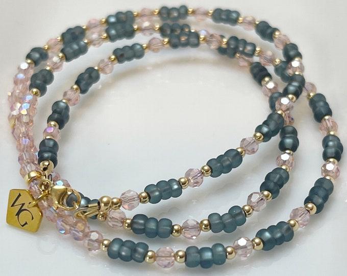50 Shades Waist beads / Gray Waist Beads / Pink / Gifts For Her / Waist Chain / Plus Size / African Waist Beads / Waist Beads w/ Clasp