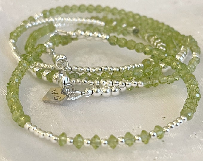 Sterling Silver Peridot Waist Beads, African Waist Beads, 925 Bead Necklace, Silver Belly Chain, Gift for her, Plus Size Waistbeads