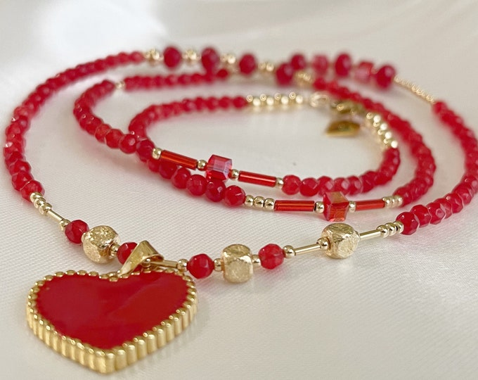 Love Warrior - 14k Red Jade Waist Beads | Belly Chain | Waistbeads with Clasp | African Waist Beads | Plus Size | Gold Filled Bead Chain