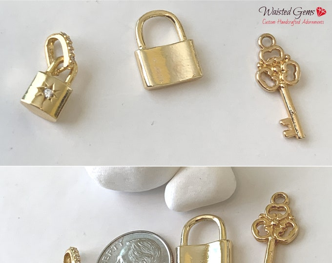 Add-On Choice Of Charms for Waist Beads and Bracelet, Sterling Silver Charms, 18k Yellow Vermeil Charms, 18k Rose Vermeil Charms