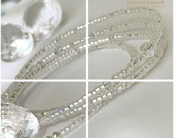 Diamond Waist Beads, body chain, waist beads, African waist beads,Silver Waist Chain, Crystal Waist Bead, Silver Waist Bead, 925,