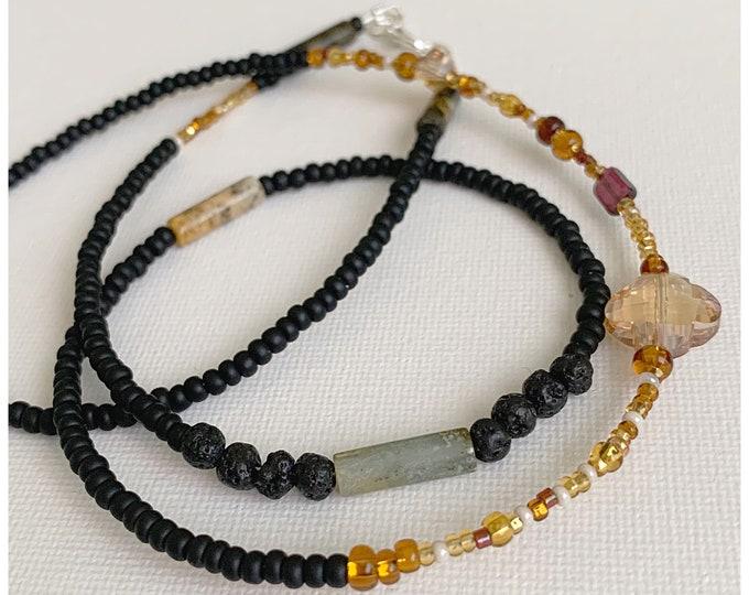 Grounded Black Waist beads, Waist Beads, Belly Chain, Body Jewelry, boho jewelry,Crystal Waist Chain, Picture Jasper,Matte Black Waist Bead