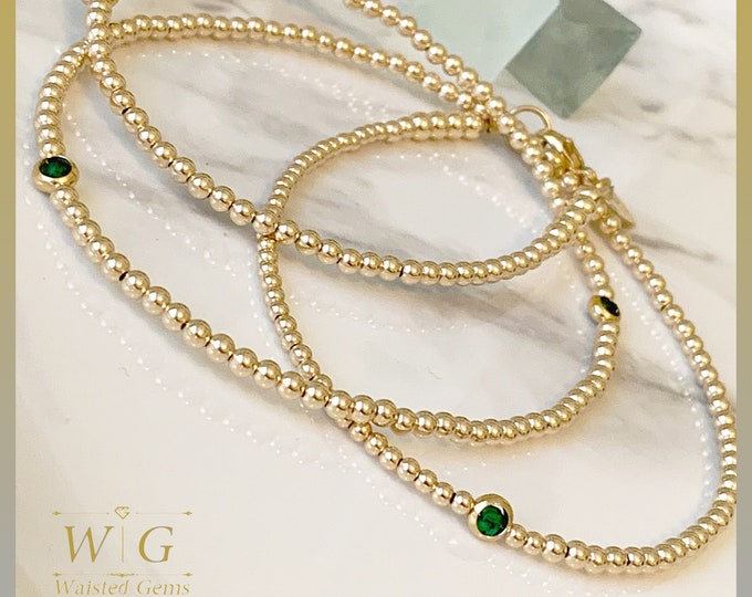 14k Gold and Emerald Waist Beads,African Waist Beads,14k Gold Waist Beads,Plus Size Waist Beads,Crystal Waist Beads,Waisted Gems,Gold Filled
