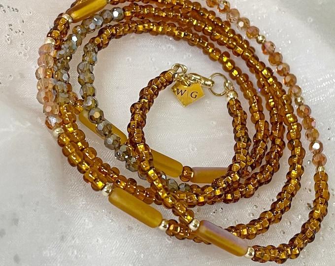 Chocolate Waist Beads, Waist Beads, Crystal Waist Bead, African Waist Beads, 14k Waist Beads, Waist Beads, Plus Size, Christmas Gift