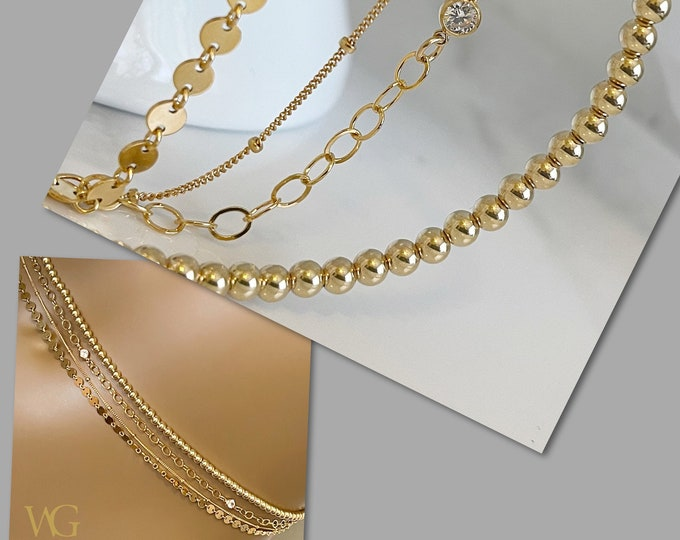 Champagne Bubbles | 14k Gold | Multi Strand Waist Chain | Gold Belly Chain |  African Beaded Waist Chain | Filled Belly Chain | Jewelry