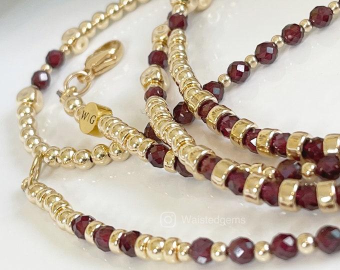 Luxury 14k Gold and Peridot Waist Bead Set, Wedding Gift, Gold Waist bead, African Waist Beads, Christmas Gift, Garnet Waist Beads, Sale