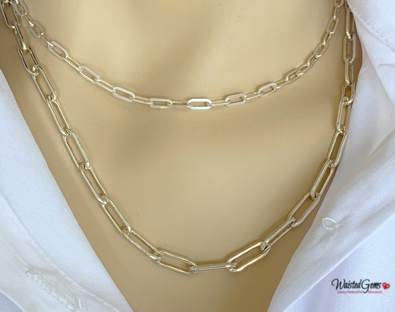 Sterling Silver Box Chain Necklace, Anchor Chain, Layering Chain, Milano link Chain, Link Chain,Silver Link Chain, Gifts for her