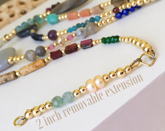 Custom Adjustable 14k or Gemstone Waist Bead Extension 1 inch or 2 inches, Adjustable Waist beads, belly chain, Waist bead extension