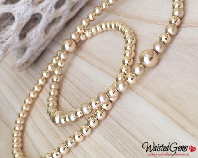 14k Gold Filled Beaded Bracelet, Stacking Bracelets, Stretch Bracelet, Jewelry, Silver Beaded Bracelet, Boho Jewelry, Gold Beaded Bracelet