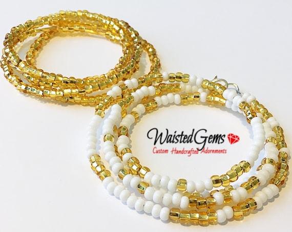 2 Piece Waist Beads Set, Belly Chain, Color Choice Waist Beads. African Waist Beads, Belly Chain,Bikini Chain,Summer Jewelry, Bikini Jewelry