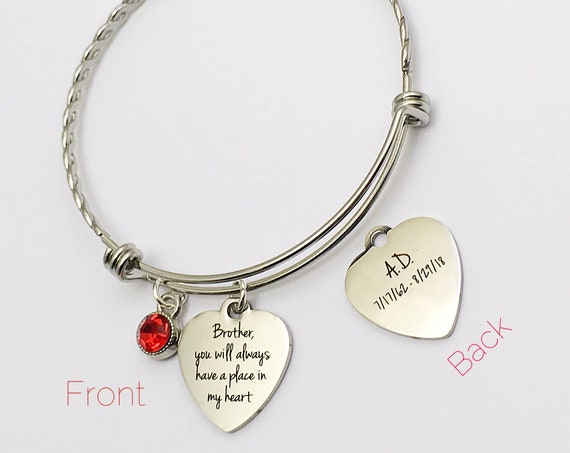 Custom Memorial Two-Sided Charm Stainless Steel Twisted Bangle, memorial Jewelry, Charm Bangle, Siblings, Charm Bracelet, zmw33472